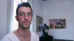 Mario Costantino Triolo al microfono di Sara Lucaroni per il TG1