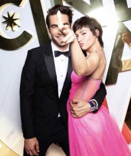 Ursula Corbero con abito Ninfe dello stilista calabrese Mario Costantino Triolo per Sosud