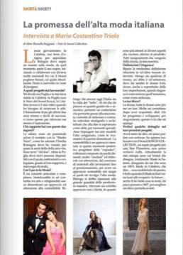 2019 - MEDITERRANEO E DINTORNI - Mario Costantino Triolo, la promessa dell'alta moda italiana.
