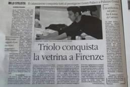 2015 - IL QUOTIDIANO DEL SUD - Triolo conquista la vetrina a Firenze.