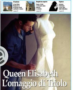 2016 - IL QUOTIDIANO DEL SUD - Mario Costantino Triolo, Queen Elisabeth. L'omaggio di Triolo.