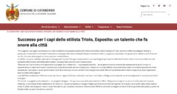 Comune di Catanzaro - Successo per I capi dello stilista Triolo, Esposito