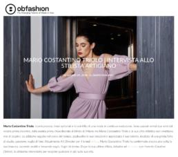 2018, Ob-Fashion - Mario Costantino Triolo Intervista