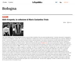 2013, La Repubblica, Boutique Bologna - Abiti d'argento, la collezione di Mario Costantino Triolo