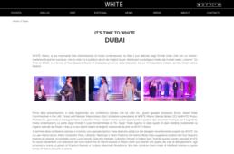 2016, WhiteShow - Mario Costantino Triolo, It's Time to White Dubai
