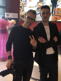 Mario Costantino Triolo con Daniele Notaro _ Fashion Week 2020