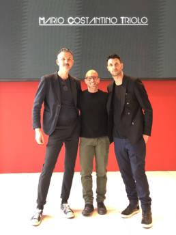 Mario Costantino Triolo con Gianluca Giordano e Davide Muccinelli _ Fashion Week 2020