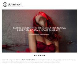 2020, Ob-Fashion - Mario Costantino Triolo, la sua nuova proposta porta il nome di GRACE 2020