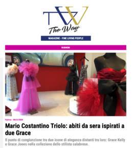 2020, The Way Magazine - Mario Costantino Triolo, abiti da sera ispirati a due Grace 2020