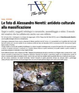 2020, The Way Magazine - Le foto di Alessandro Neretti: antidoto culturale alla massificazione