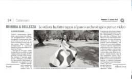 2014, Il Quotidiano del Sud - Mario Costantino Triolo ha fatto tappa al parco archeologico per un video