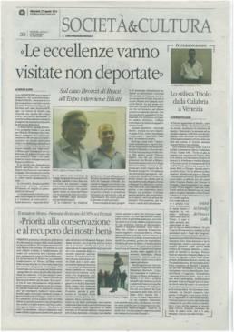 2014 - IL QUOTIDIANO DEL SUD - Lo stilista Triolo dalla Calabria a Venezia Vestirà la Dandyf di Finucci Gallo.
