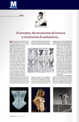 gennaio 2020, Mediterraneo e dintorni - Mario Costantino Triolo - Il corsetto, da strumento di tortura a strumento di seduzione