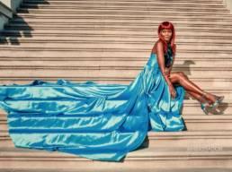TOMIKO in LA LA LAND! Dress_ Mario Costantino Triolo