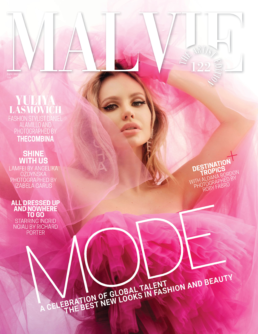Malvie Magazine France The Artist Edition _ Yuliya Lasmovich in Mario Costantino Triolo Alta Moda