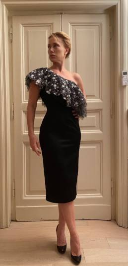 Nancy Brilli veste l'Alta Moda di Mario Costantino Triolo