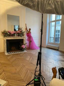 Alicia Aylies Miss France, dresses Alta Moda by Mario Costantino Triolo • Preview shooting in Paris